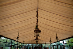 Tent ceiling in a wedding party Stock Photography