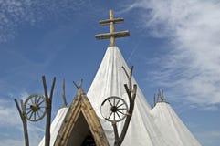 Tent church, Bosztorpuszta, Hungary Royalty Free Stock Photo
