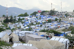 The tent city. Royalty Free Stock Photos