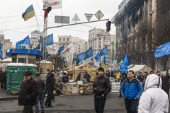 Tent city. Of protesters on Khreschatyk Street, Ukraine the revolutionary events on the change of power in the country stock images
