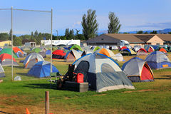 Tent City for Firefighters, volunteers, and servic Stock Images