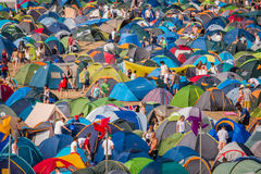 Tent City Royalty Free Stock Images