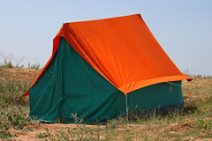 Tent on coast Royalty Free Stock Photo