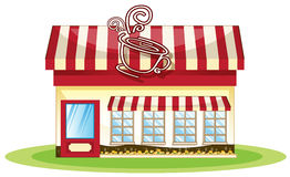 Tent coffee shop Stock Image