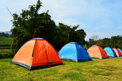 Tent. Colorful tent in the garden Thailand stock images