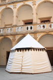 Tent on courtyard of Monastery in Jicin Royalty Free Stock Photography