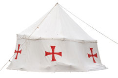 The tent of the crusaders Stock Images