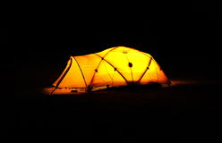 Tent in the Darkness Royalty Free Stock Images