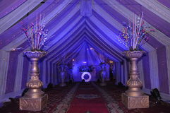 a tent decoration with showpieces Stock Images