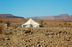 Tent in the desert Stock Photography