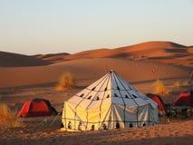 Tent in the desert Stock Photos