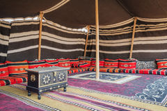 Tent Desert Camp Oman. Tent desert camp Wahiba with wooden chest in Oman Royalty Free Stock Photo