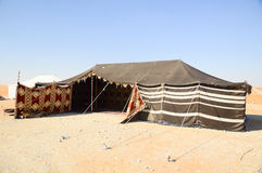 Tent in desert Royalty Free Stock Photography