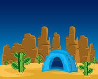 Tent in desert Stock Photography