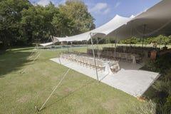 Tent Dining Party Decor Landscape Stock Photos
