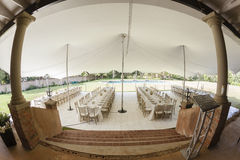 Tent Dining Party Decor Stock Image