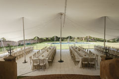 Tent Dining Party Decor Stock Photo