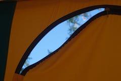 Tent door zip Stock Image