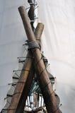 Tent en houten frame Royalty-vrije Stock Fotografie