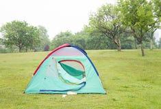 Tent. Enjoy the natural green grass green tent Stock Image