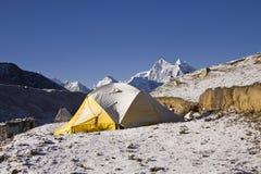 Tent at the everest region sagarmatha np Royalty Free Stock Image