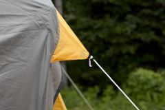 Tent fabric and string Stock Image
