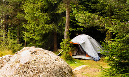 Tent in the forest Royalty Free Stock Photo