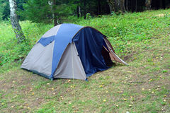 Tent in forest Royalty Free Stock Photo