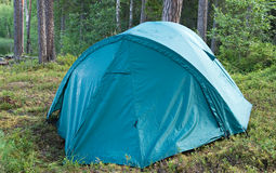 Tent in a forest Stock Image