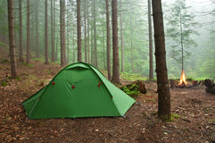 Tent in the forest Stock Image