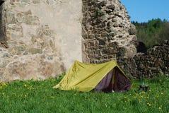 Tent fresh grass Stock Photos