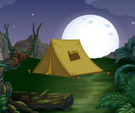 Tent and fullmoon Stock Image