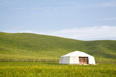 tent in the grassland Stock Photos