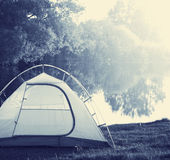 Tent on grassland Royalty Free Stock Image