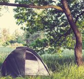Tent on grassland Stock Photography