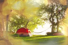 Tent on grassland Stock Image