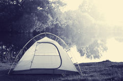 Tent on grassland Royalty Free Stock Photos