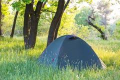 Tent on grassland Stock Photography