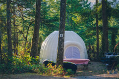 Tent in het bos Royalty-vrije Stock Foto's