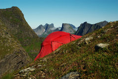 Tent on Hillside Stock Photos