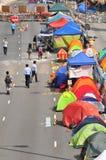 Tent. Hong Kong protestor staying at Tent at street Stock Photography