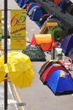 Tent. Hong Kong protestor staying at Tent at street Royalty Free Stock Photo