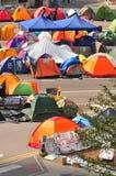 Tent. Hong Kong protestor staying at Tent at street Stock Images