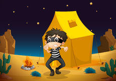 A tent house and a boy Royalty Free Stock Image