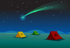 Tent house and comet Stock Photo