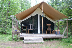 Tent in hout Stock Foto's