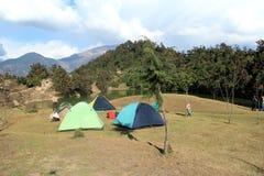 Tent i berg. Royaltyfri Fotografi