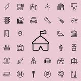 tent icon. Detailed set of minimalistic line icons. Premium graphic design. One of the collection icons for websites, web design, royalty free illustration