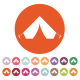 The tent icon. Travel symbol. Flat Royalty Free Stock Photography
