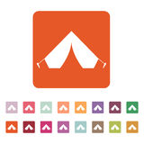 The tent icon. Travel symbol. Flat Royalty Free Stock Image